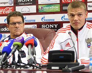 Пресс-конференция Капелло и Денисова