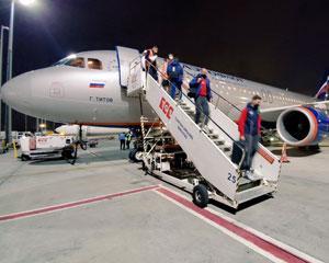 Сборная России прилетела в Стамбул